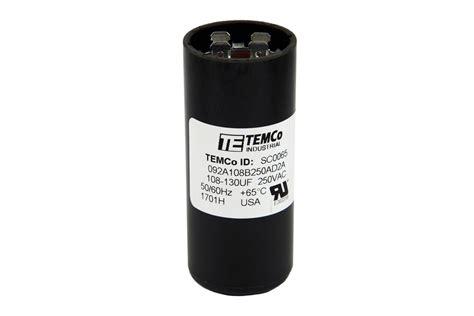 temco capacitor review temco 108 130 mfd uf electric motor start capacitor 220 250v hvac 250 vac v volt ebay