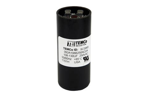 1 uf motor capacitor temco 108 130 mfd uf electric motor start capacitor 220 250v hvac 250 vac v volt ebay