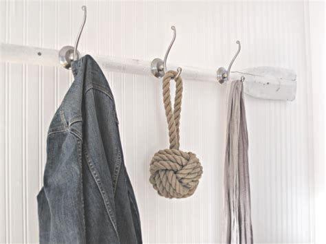 diy coat hanger rack for with white animal