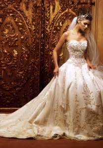 White and gold wedding dress stunning gold wedding dresses
