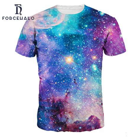 Most Comfortable S T Shirts by 2017 Summer Style Fashion T Shirt Space Galaxy Printed