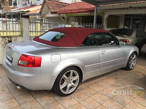 Audi A4 Baujahr 2004 by Audi A4 2004 1 8 In Selangor Automatic Convertible Silver