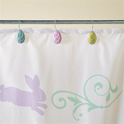 easter shower curtain hooks egg easter shower hooks oriental trading discontinued