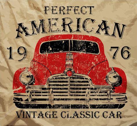 imagenes retro autos antigua camisa de hombre t americano coche vintage cl 225 sico