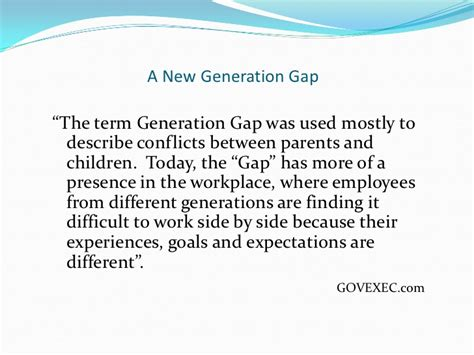 generational differences presentation