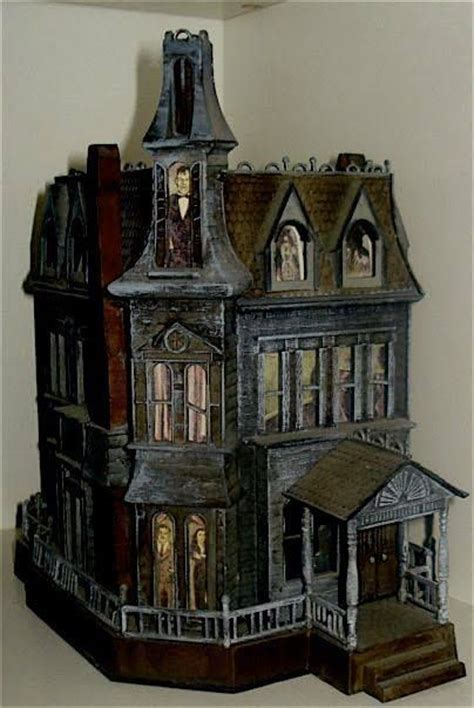 haunted dollhouse kit family jointed dolls and resin and all