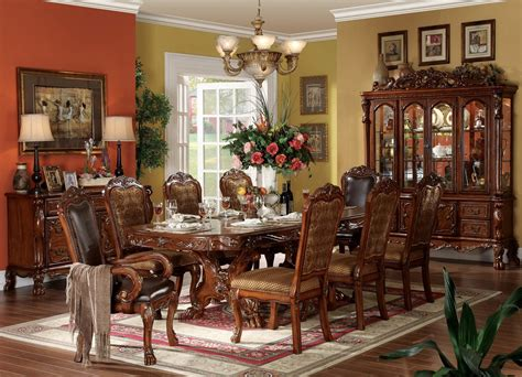 dresden formal dining carved wood double pedestal table setfree shippingshopfactorydirectcom
