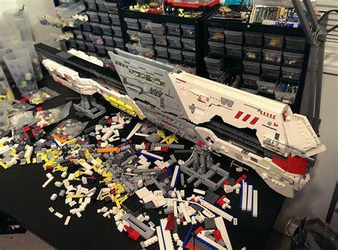 Homeworld Design And Build Homeworld Goes Lego In Epic Battlecruiser Build