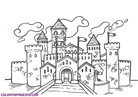 coloring pages castle tower a castle with many towers
