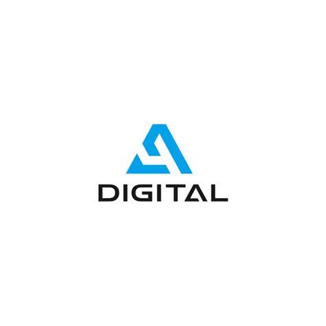 logo design digital design a simple cutting edge logo for a4 digital logo