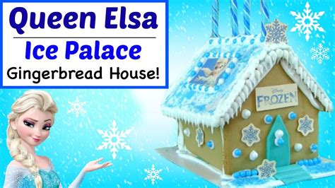 elsa house frozen gingerbread house elsa ice palace how to make