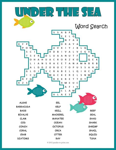 printable under the sea word search 150 best images about ocean animals lesson plans on