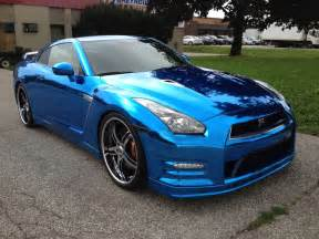 Nissan Blue Nissan Gt R Wrapped In Blue Chrome