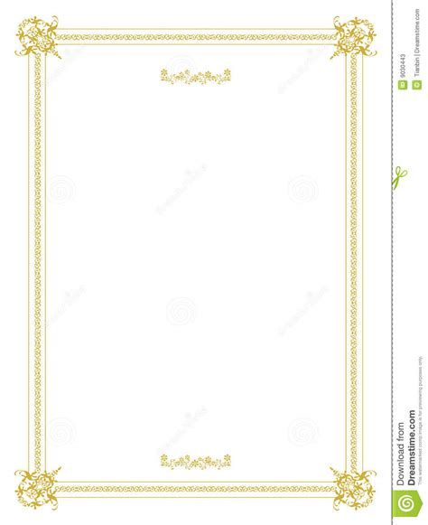 invitation frame design stock vector image of clean