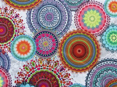 Paisley Upholstery Fabric Uk by Paisley Circles Vintage Print Digital Cotton Fabric