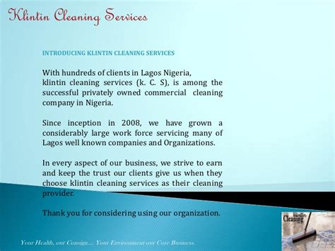 Hiring Agreement Template klintin cleaning services presentation