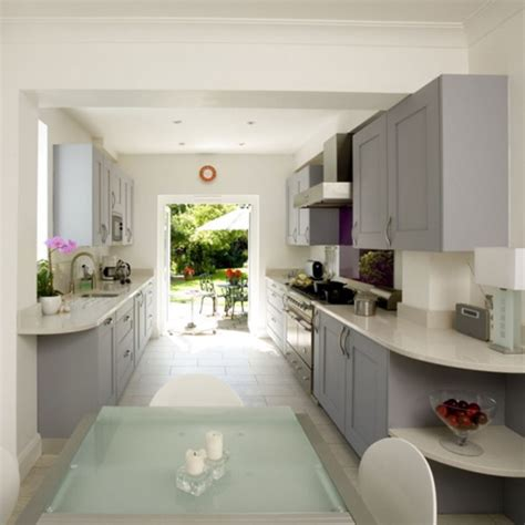galley kitchen makeover ideas small galley kitchen with dining area designs uk home