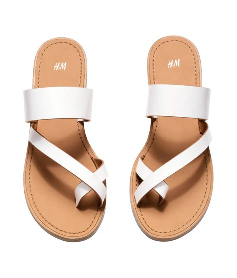 h and m sandals h m sandals in white lyst