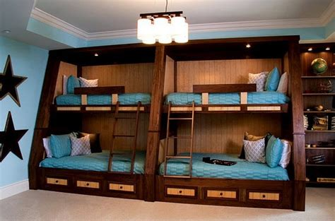 4 bed bunk bed bunk beds optimal solution for large families