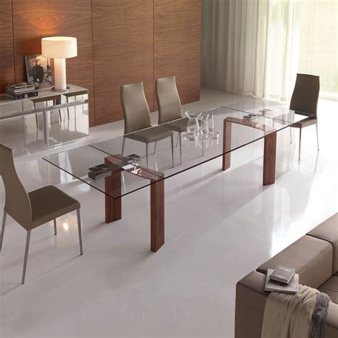 tavolo in cristallo tavolo in cristallo a tre gambe daytona di cattelan