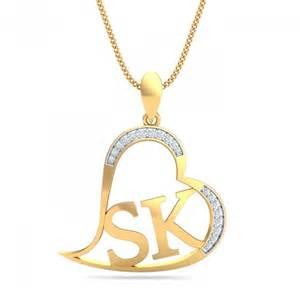 Bracelets With Initials Sk Initials Heart Pendant Kuberbox Com