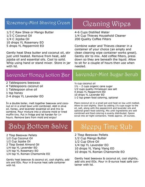 printable young living recipes diy with young living recipe cards independent member