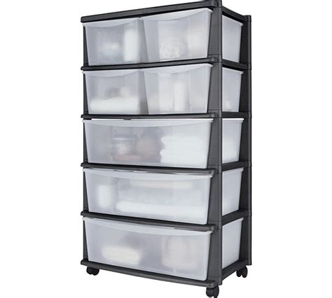 small drawer unit argos buy home 7 drawer plastic wide tower storage unit black