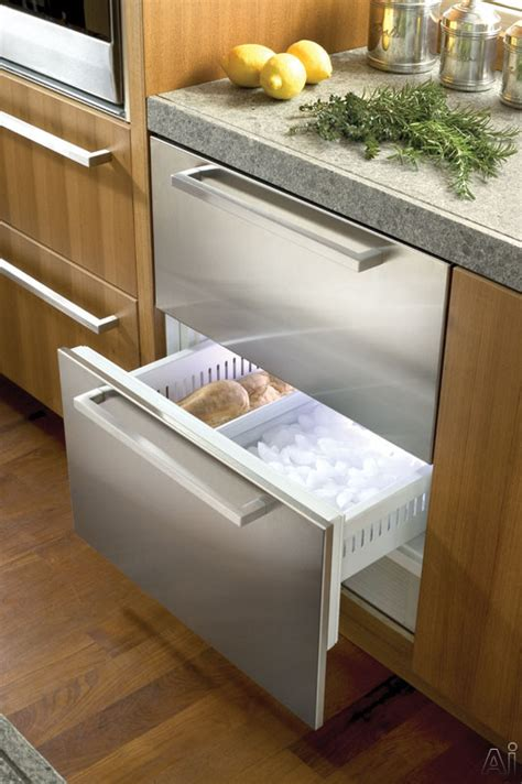 sub zero freezer drawers with ice maker sub zero 700bf 27 quot built in double drawer freezer with 5 1