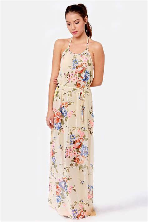 Maxi Dress Tha 4643 that s floral like it beige floral print maxi dress