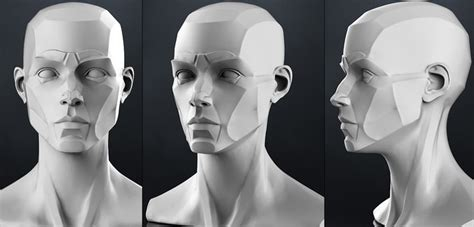 design doll male model planes of the head female 3d cgtrader