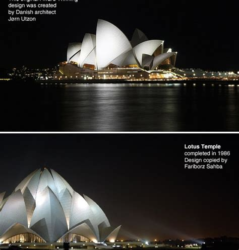 Lotus Temple And Sydney Opera House The Baha I Architecture