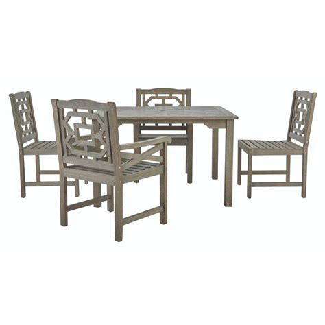 Martha Stewart Patio Dining Set Martha Stewart Living Blue Hill 5 All Weather Eucalyptus Wood Patio Dining Set 9433100270