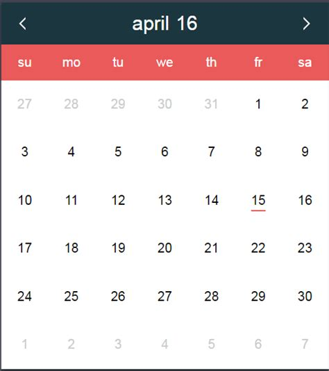 javascript date format get month name javascript date a pure js date picker datepickk with demos