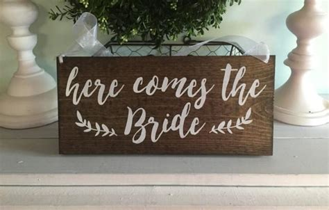 Handmade Wood Signs Rustic - here comes the ring bearer sign rustic wedding