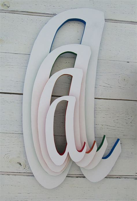 large decorative letters for walls decorative wall letters large 22 inch wooden by