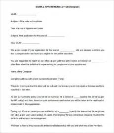 Letter To Teacher For Dentist Appointment 25 Appointment Letter Templates Free Sample Example