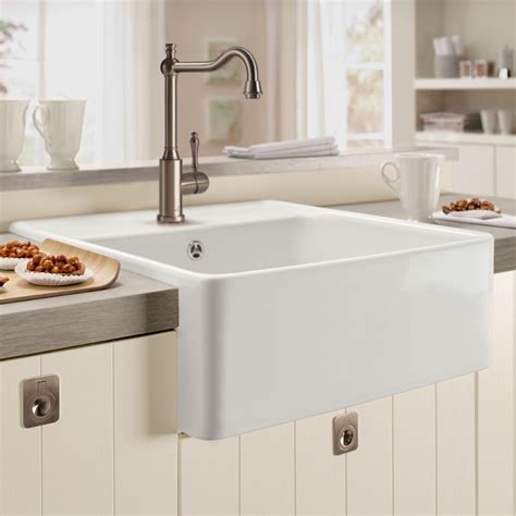 butler kitchen sinks villeroy and boch butler 60 single bowl ceramic kitchen sink