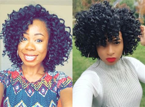 crochet short hairstyles crochet braids hairstyles for lovely curly look andybest tv
