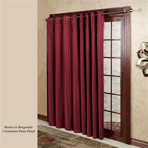 patio panel curtain oxford pleat grommet patio panels