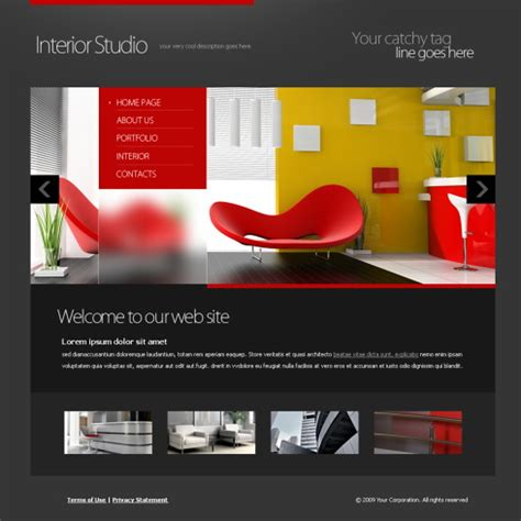 5651 Interior Furniture Website Templates Dreamtemplate Furniture Website Templates Free
