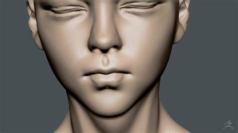 Zbrush Tutorial Female | zbrush sculpting 1x girl with eyes closed youtube