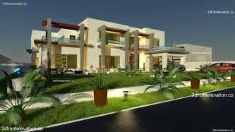 Sq 3d Front Elevation Com 2000 Sq Yard House Plan 3d Front