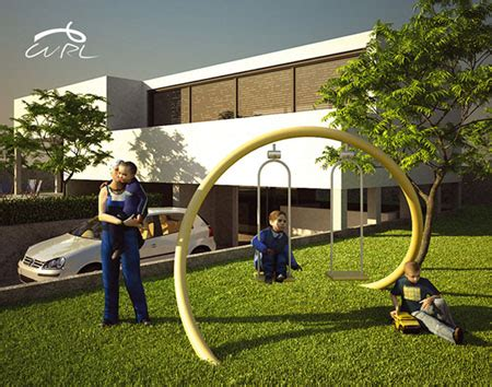 cool outdoor swings curl playground swing design to attract children to play