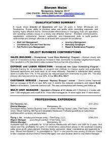 Resume Examples For Retail Retail District Manager Resume Ilivearticles Info
