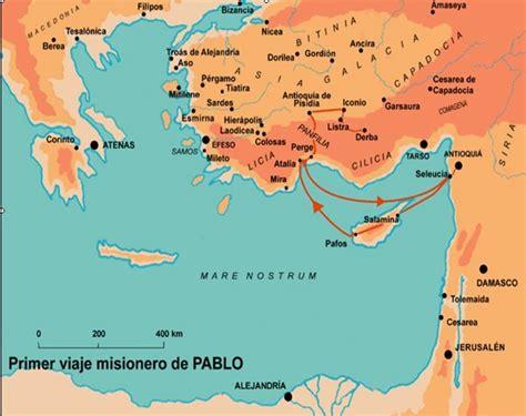 cuarto viaje misionero de pablo mapa 9 primer viaje misionero de pablo promotora nacional