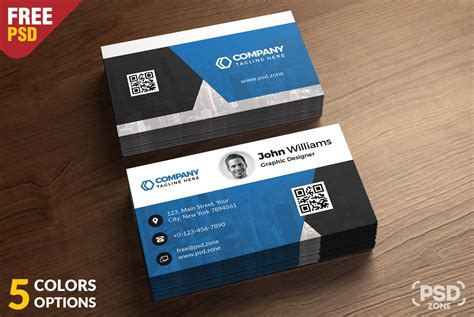 corporate business card templates psd corporate business card free psd template