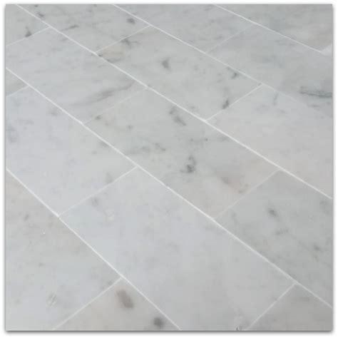 bianco carrara 3x6 subway marble tile polished