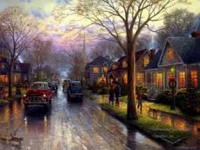 Ny Landscape Lighting - christmas paintings by thomas kinkade 7 full image