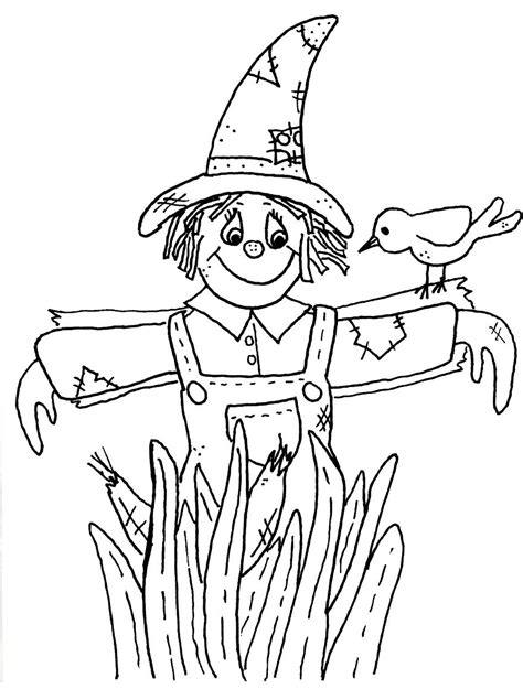 Scarecrow Coloring Pages Free Large Images Scarecrow Color Page