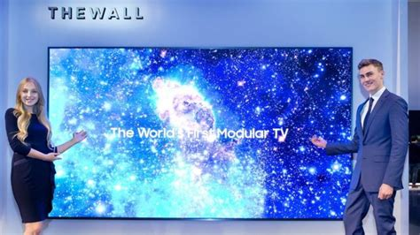 samsung wall tv samsung unveils modular tv st lucia news